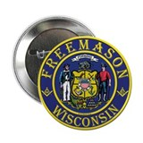 "Wisconsin Masons 2.25"" Button"