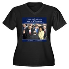 Obama Inauguration Photo Women's Plus Size V-Neck