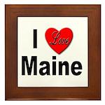 I Love Maine Framed Tile