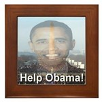 Help Obama Framed Tile