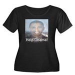 Help Obama Women's Plus Size Scoop Neck Dark T-Shi