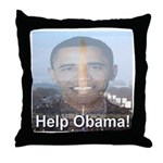 Help Obama Throw Pillow