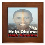 Help Obama Help America Framed Tile