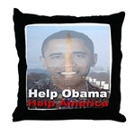 Help Obama Help America Throw Pillow