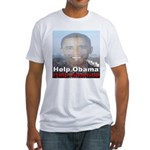 Help Obama Help America Fitted T-Shirt