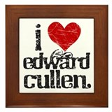 I Love Edward Cullen Framed Tile