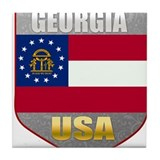 Georgia USA Crest Tile Coaster
