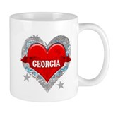 My Heart Georgia Vector Style Small Mug