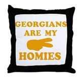 Georgians are my homies Throw Pillow