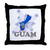 All Star Guam Throw Pillow