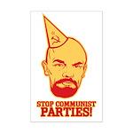 Stop Communist Parties! Mini Poster Print