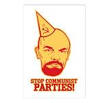 Stop Communist Parties! Postcards (Package of 8)