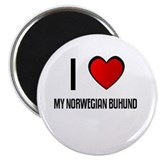"I LOVE MY NORWEGIAN BUHUND 2.25"" Magnet (10 pack)"