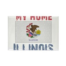 My Home Illinois Vintage Styl Rectangle Magnet (10