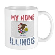My Home Illinois Vintage Styl Mug
