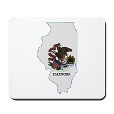 Illinois Stripe Custom Design Mousepad