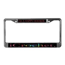 I'm The Happy Hooker/i Crochet License Plate Frame