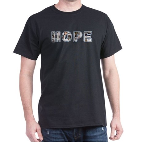 Obama Headlines Hope Dark T-Shirt