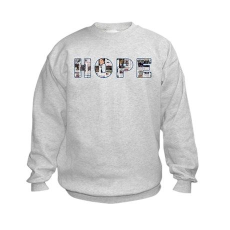 Obama Headlines Hope Kids Sweatshirt