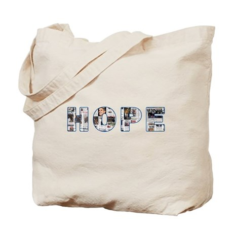 Obama Headlines Hope Tote Bag