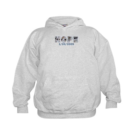 Obama Headlines Hope Date Kids Hoodie