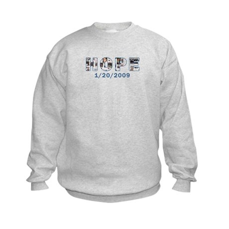 Obama Headlines Hope Date Kids Sweatshirt
