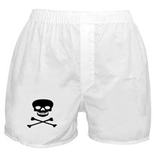 Black Skull and Crossbones Boxer Shorts