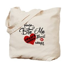 Bite Me Edward Cullen Tote Bag