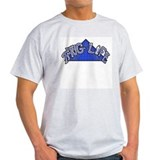 Thug Life Blue Flaggin Grey T-Shirt