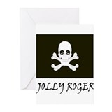 Jolly Roger Black Greeting Cards (Pk of 10)