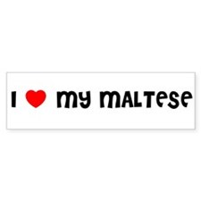I LOVE MY MALTESE Bumper Bumper Sticker