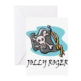 Jolly Roger Flag Greeting Cards (Pk of 10)