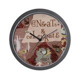 Congrats and Celebrate Wall Clock