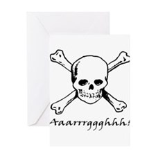 Aarrgghh Skull and Crossbones Greeting Card