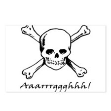 Aarrgghh Skull and Crossbones Postcards (Package o
