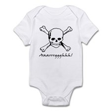 Aarrgghh Skull and Crossbones Infant Bodysuit