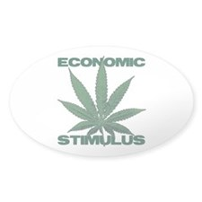 ECONOMIC STIMULUS - Marijuana - Oval Decal