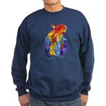 LOVE CAT Bright Colors Sweatshirt (dark)