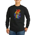 LOVE CAT Bright Colors Long Sleeve Dark T-Shirt