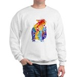 LOVE CAT Bright Colors Sweatshirt