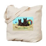Life's a Beach Scottish Terri Tote Bag
