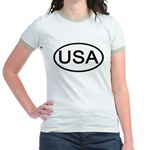 United States - USA - Oval Jr. Ringer T-Shirt