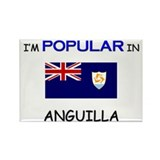 I'm Popular In ANGUILLA Rectangle Magnet