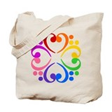 Bass Clef Flower Tote Bag