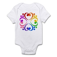 Bass Clef Flower Infant Bodysuit
