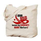 Red For Grandma Heart Disease Tote Bag