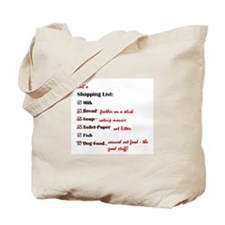 Cat's Shopping List Tote Bag