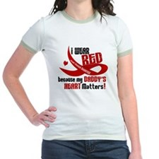 Red For My Daddy Heart Disease Shirt T