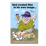 God Created Man Postcard Pack (8)