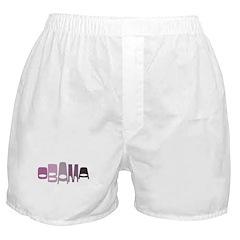 Funky Obama Oval (purple) Boxer Shorts